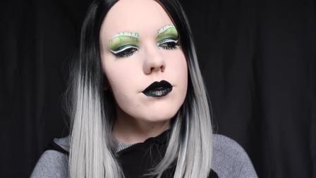 国外时尚美妆:女子幻影脸妆,感受到影子的离