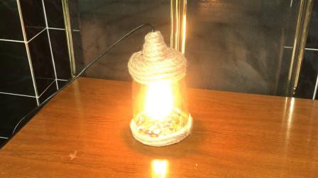 外国牛人用罐头瓶制作小清新台灯,还用上了海