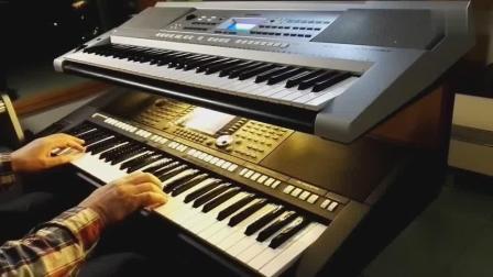 《风儿在动云儿在飞》 ,牛人电子琴演奏