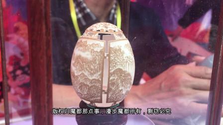 牛人用鸡蛋壳雕刻出精美图案 真是一绝!