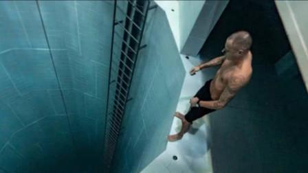 牛人挑战世界最深泳池,打破无装备潜水纪录,