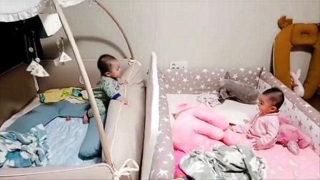 龙凤胎分床睡之后 哥哥老是翻墙去找妹妹 妈妈都崩溃了