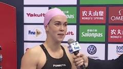 女子50米仰泳决赛-澳大利亚选手巴拉特夺取金牌