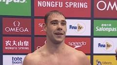 男子100米蝶泳决赛-澳大利亚选手埃尔文以0.02秒优