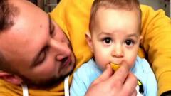 小宝宝吃到柠檬后的爆笑反应 搞笑视频集锦