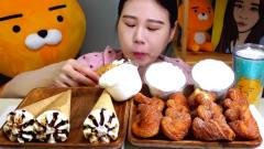 韩国美女大胃王,吃冰激凌+甜点,网友:胃口这