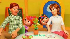 英语益智动漫:宝宝们好棒,给爸爸妈妈做蛋糕