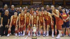 热身赛中国女篮大胜希腊三连胜夺冠,李月汝1