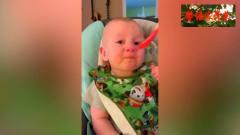 国外宝宝搞笑视频,吃了番茄酱表情无语了