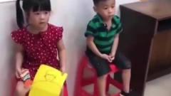 家庭幽默录像:看别人打针!外表没事,其实内