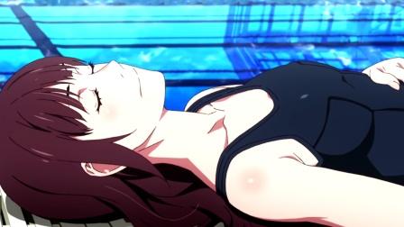 两个人的泳池,美女一番话,小哥顿时就脸红了