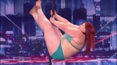 230斤胖妞挑战钢管舞,却遭导师直接灭灯!下一