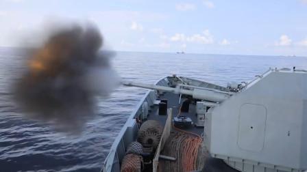 """驻港部队056""""火力全开"""",主副炮轮番上阵超提气,释放强烈信号"""