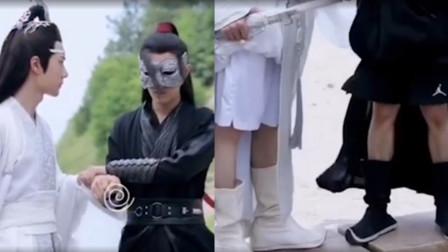 有一种美腿叫王一博,当他和肖战一起卷起裤子