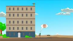 吃鸡搞笑动画:大表哥十米高楼跳下,楞子硬接
