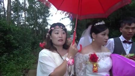 广东一对新人结婚,刚到家儿子就来找爸妈了,