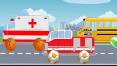 儿童卡通 认识校车 警车 救护车 卡车 益智早教