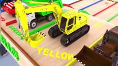 儿童卡通 罐车 压路机 卡车 挖掘机 学习*lue red
