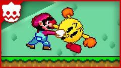 超级玛丽:马里奥超搞笑动画,吃豆人激战马里