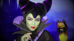 美女仿妆沉睡魔咒里的邪恶王后,这副妆容还挺