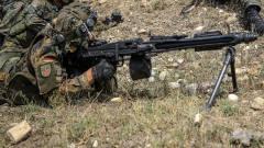 科技与军事:德国陆军MG3机枪手在军事演习中.