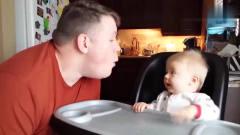 家庭幽默录像:当*爸第一次带孩子, 孩子都快被