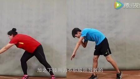 体育高考学生必看原地推铅球技术动作
