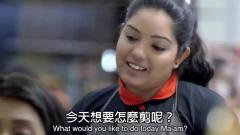 创意广告 看着是美女剪头发,想不到竟然是为了