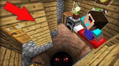我的世界MC动画:新手在他的房子底下发现了一个