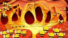 黑色幽默动画,笨狗熊偷吃蜂蜜,差点被蜜蜂群