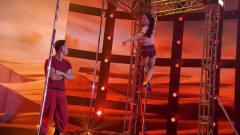 《中国达人秀》双人钢管舞表演真是绝了,杨幂