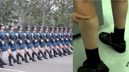 阅兵腿 刷屏 方阵女兵腿晒成 三节棍 网友 敬你是条汉子