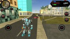 鲨鱼机器人:鲨鱼机器人摧毁军事基地被无数汽