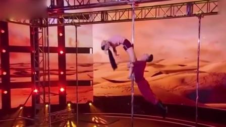 中国达人秀-史上最美钢管舞,惊艳全场,杨幂都