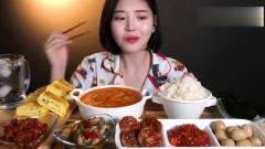 韩国大胃王美女吃播视频:韩国家常菜