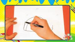 手绘食物简笔画之画卡通彩虹蛋糕