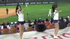 韩国啦啦队美女,这身体比例,一定每天都做运