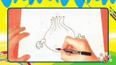 手绘蔬菜简笔画之画卡通洋葱兄弟