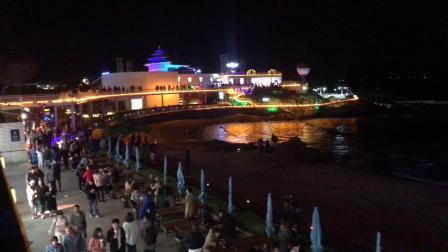 90后美女,来到秦皇岛夜晚最嗨的景点,堪比北京