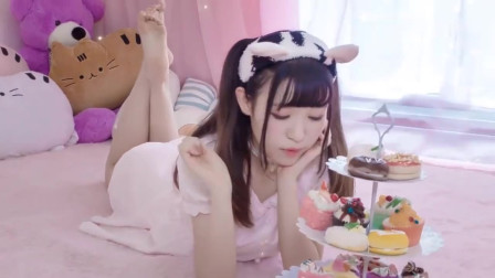 可爱美女宅舞:超可爱校花小姐姐跳学猫叫,粉
