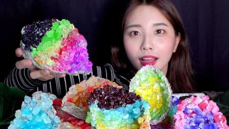韩国美女把宝石糖改造升级,变成超高颜值的糖