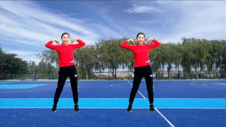气质美女广场舞《DJ听心》流行舞曲,强力减肥健