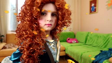 动漫仿妆,小美女变身公主,真可爱