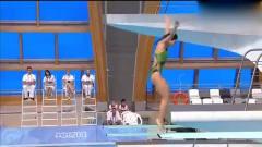 女運動員跳水失誤了!這一幕估計自己都尷尬了