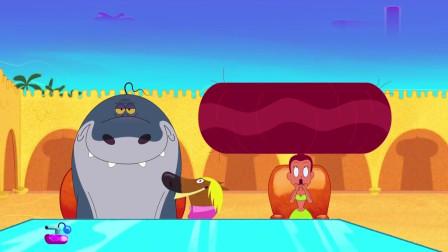 搞笑动画:眼看美人鱼要被带走了,鲨鱼哥使出