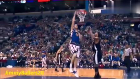 比姚明还高,扣篮不用跳的五个篮球运动员!