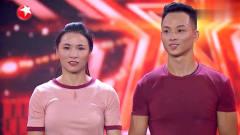 中国达人秀:表演非常默契的钢管舞夫妻,获得