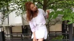韩国清纯美女,神态悠闲美目流盼,说不尽的温