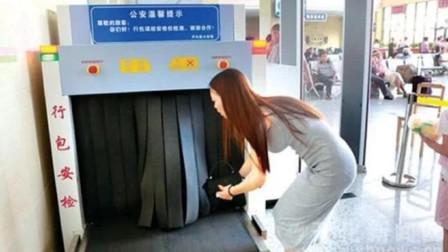 韩国美女来中国旅行,过安检时被拦下,屏幕上