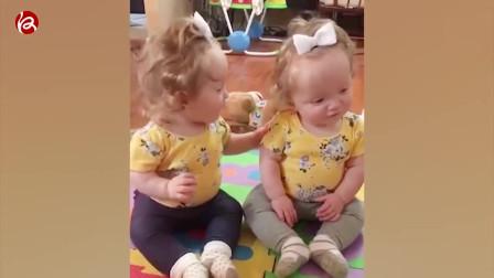 家庭搞笑视频:双胞胎宝贝搞笑瞬间,真的不要